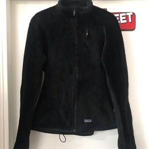 Black Patagonia R Series Fleece Zip Up Jacket